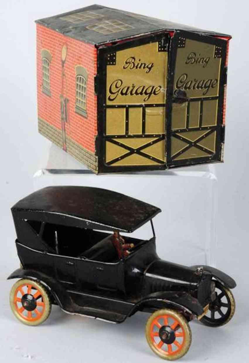 bing blech spielzeug garage auto modell a uhrwerk