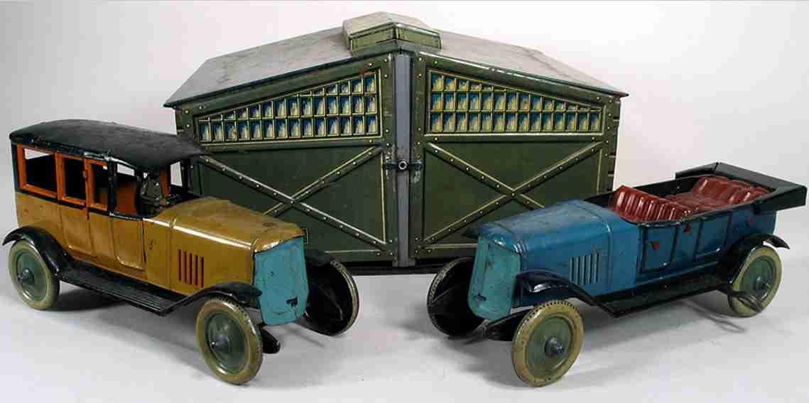 distler johann 518 blech spielzeug garage limousine 618 fahrer tourenwagen 524