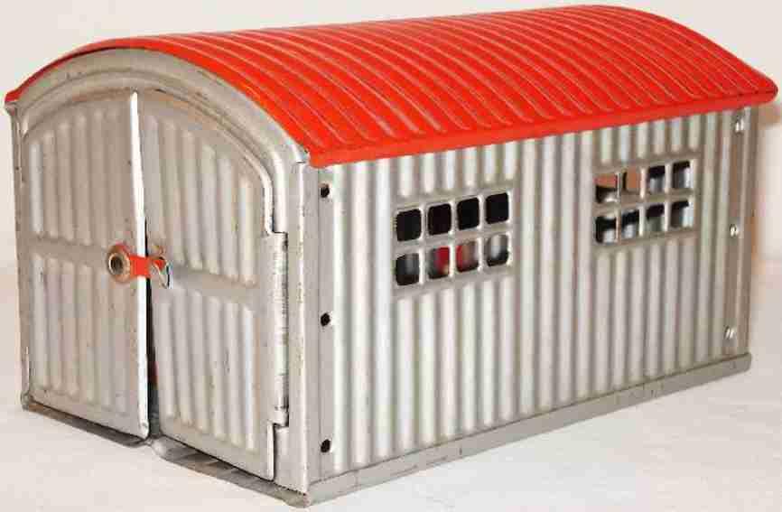 levy george gely blech spielzeug garage wellblechgarage mit rotem wellblechdach