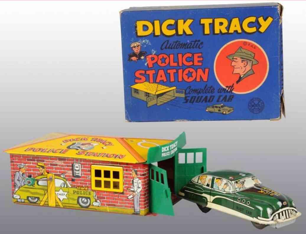 marx louis dick tracy polizeigarage mit polizieauto