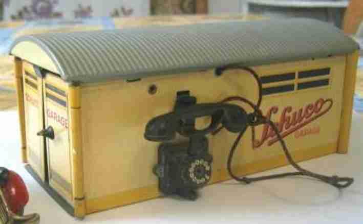 schuco 1500 blech spielzeug garage mit telefon