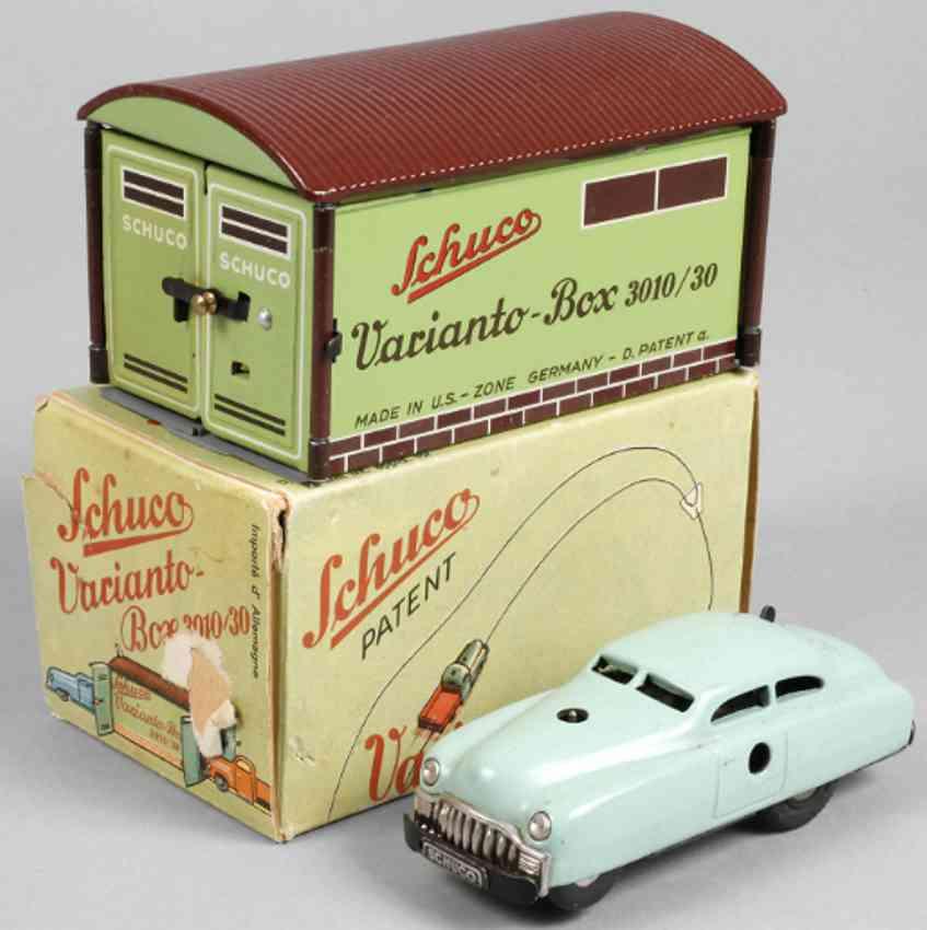 schuco 3010/30 blech spielzeug garage varianto-box garage limousine