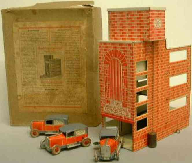 stock walter 460 tin toy high-rise building  garage as a brick