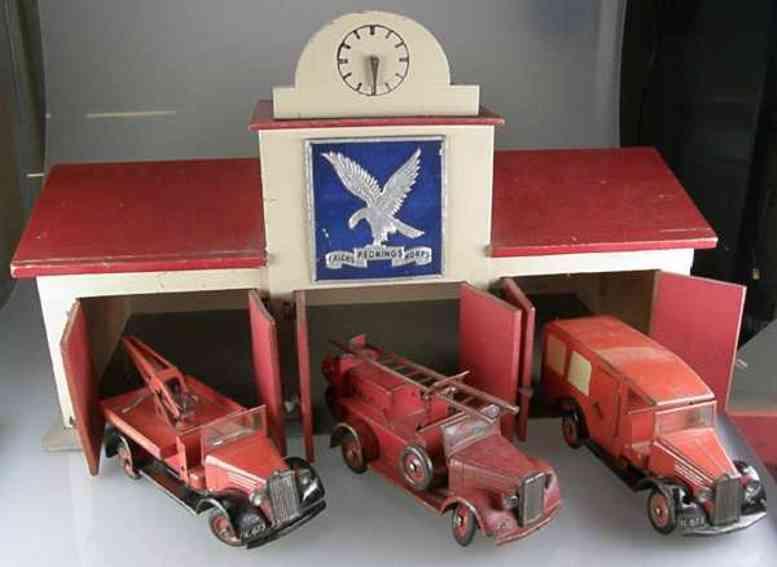 Tekno Feuerwehr-Garage Rednings Falcks Korps