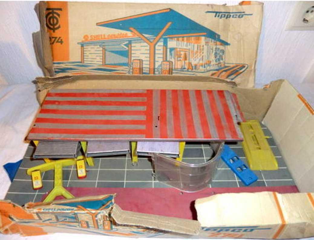 tippco 274 blech spielzeug garage garage ohne fahrzeuge
