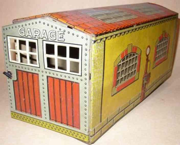 tippco blech spielzeug garage 2 tueren zum oeffnen