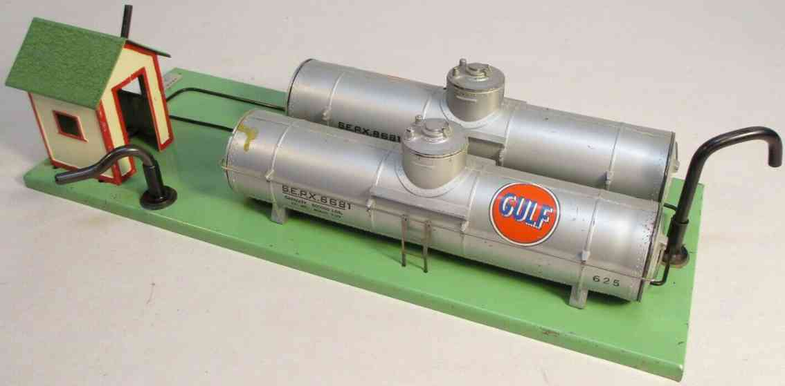 american flyer toy company 768g gulf oil supply depot tank car bodies 625