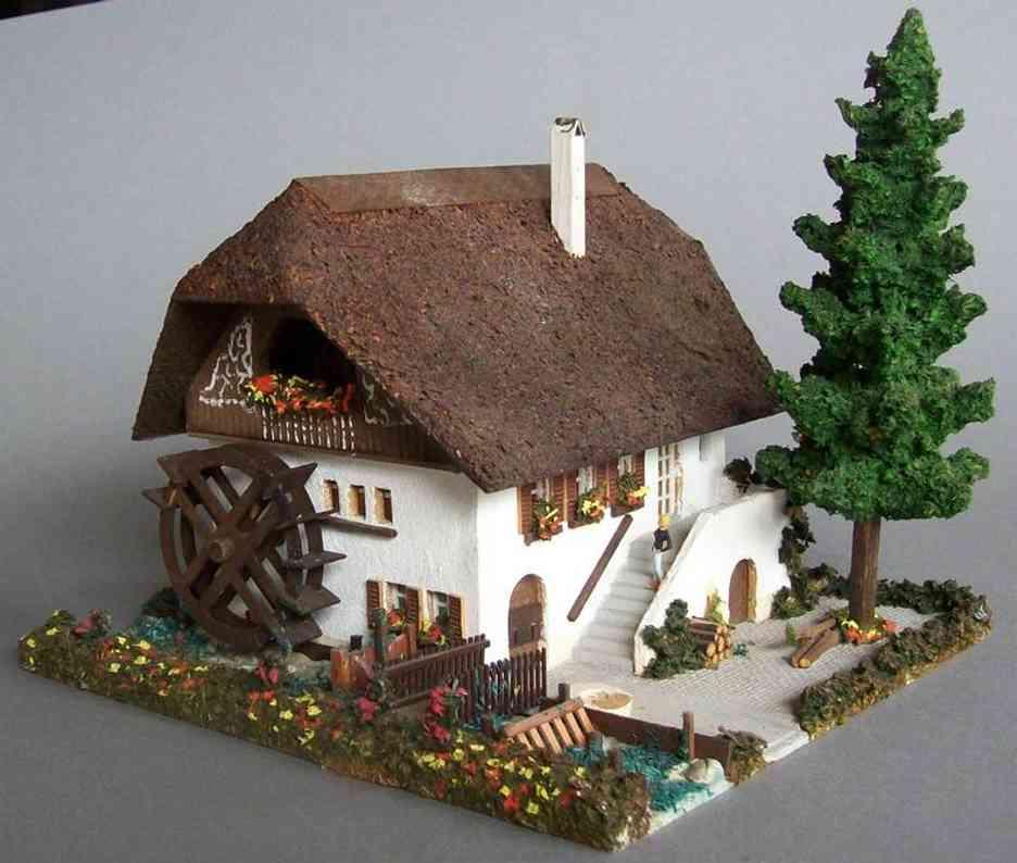 Cregliner Modellspielwaren-Fabrik 301 Mühle aus Holz von August Flor