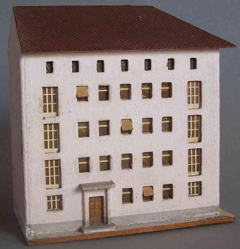 Cregliner Modellspielwaren-Fabrik 521 Wohnblock auf Holz von August Flor