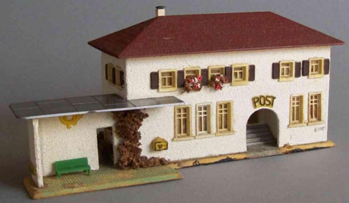 Faller 213 Postgebäude mit Haltestelle