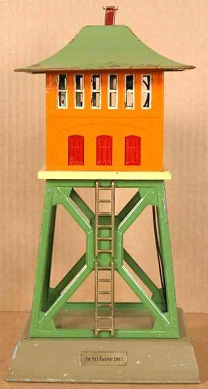ives 255 (1867) spielzeug eisenbahn gebaeude signalturm als nr. 255 von 1929-1930 und als nr. 1867 von 19