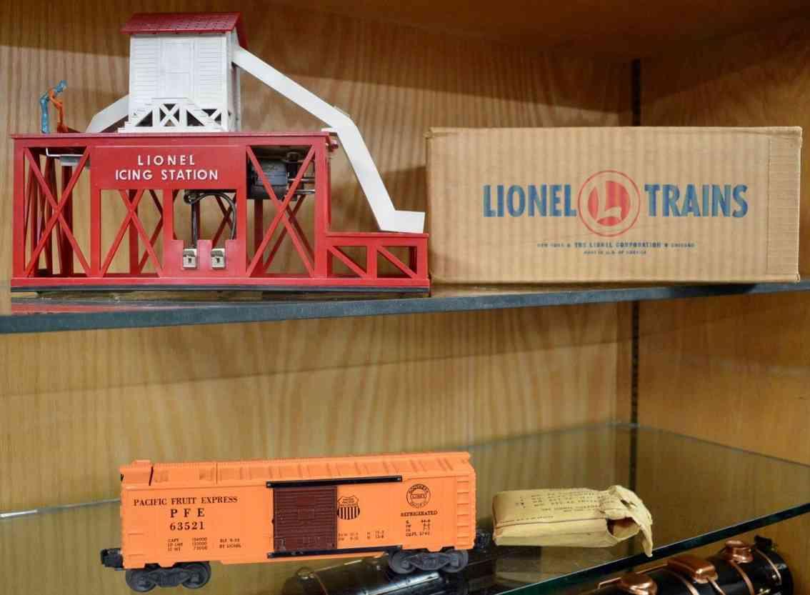 lionel 352 eisenbahn eisdepot kunststoff gueterwagen 6352 orange spur 0