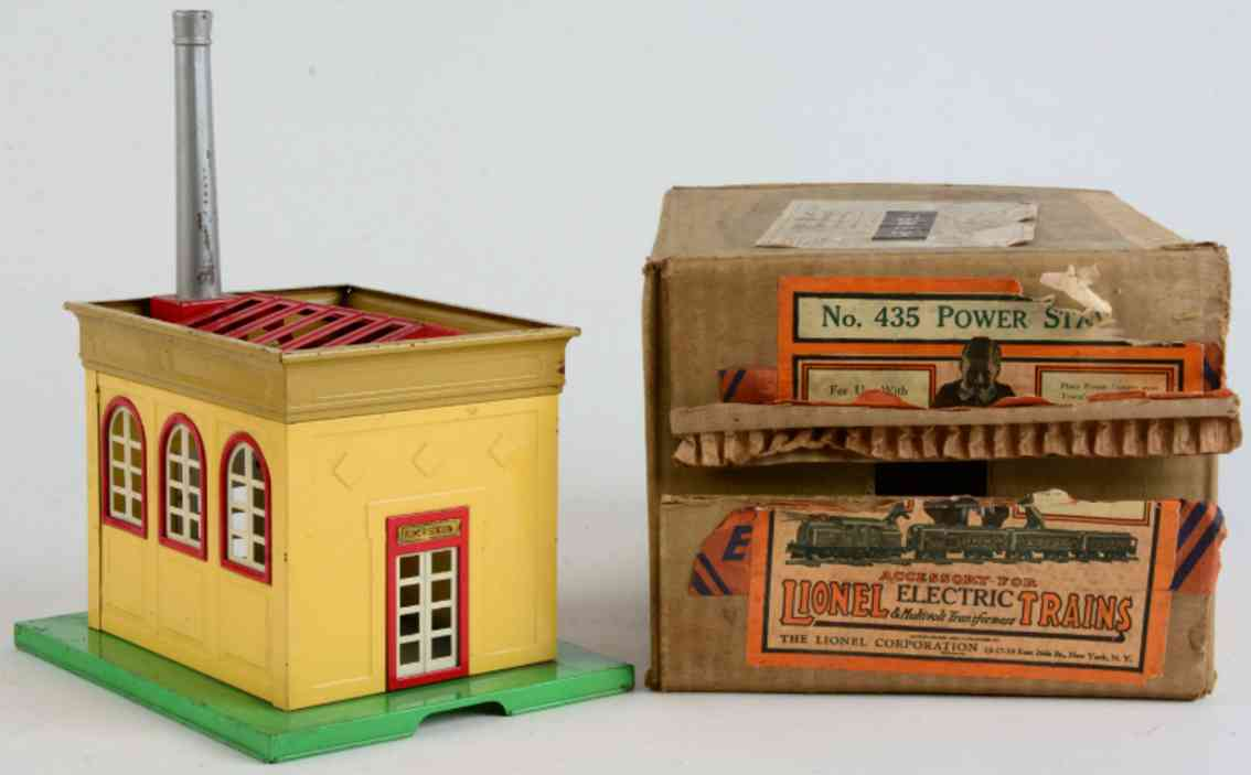 lionel 435 railway toy power station on n45 green base