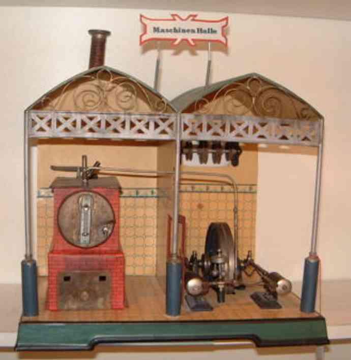 Märklin Nachbau einer seltenen Märklin Maschinenhalle handlackiert