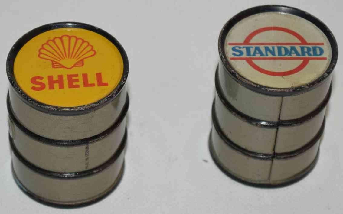 karl bub railway toy gasoline barrels shell standard gauge 0