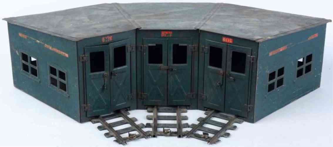 buddy l railway toy pressed steel roundhouse section