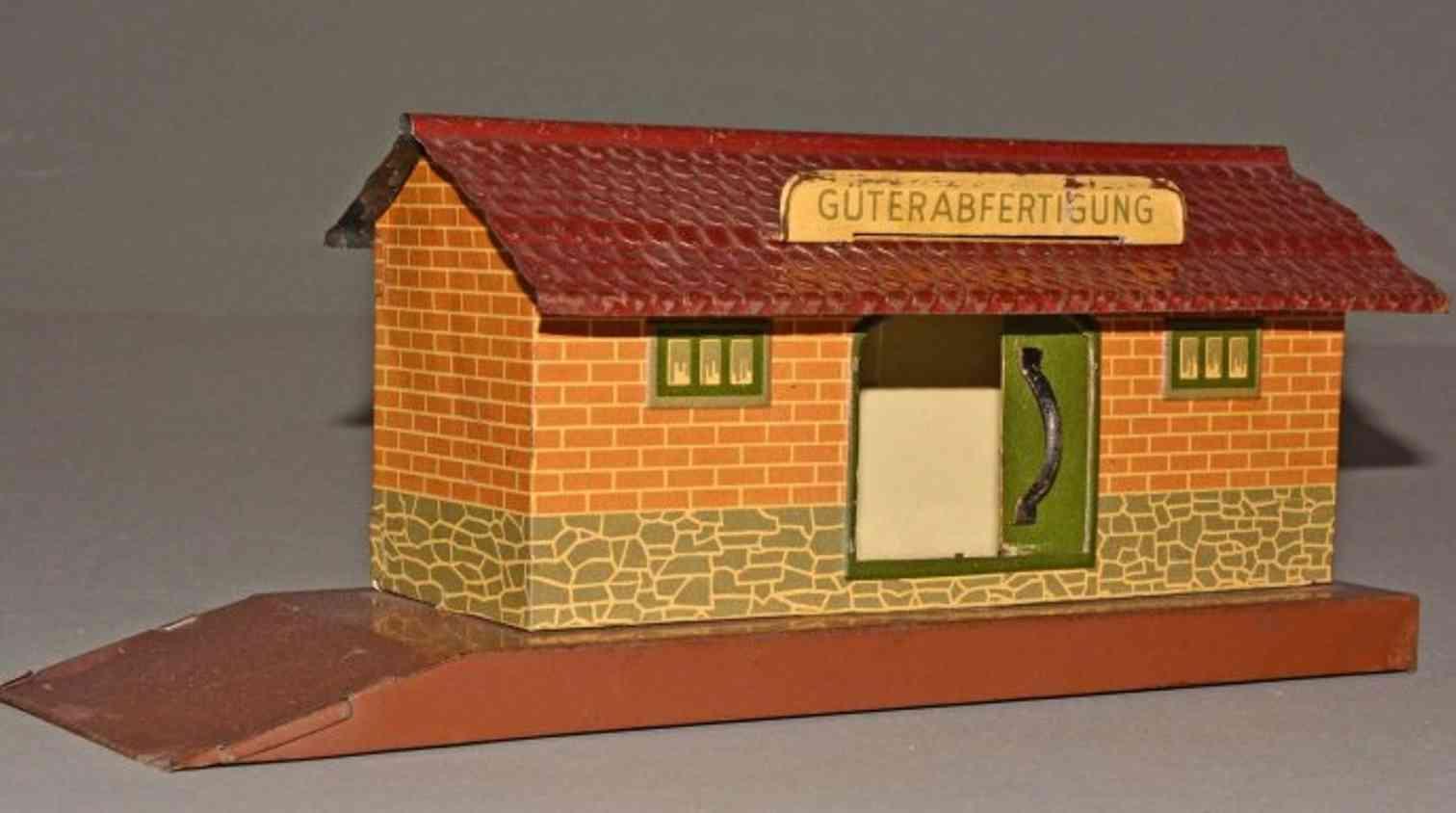 distler johann railway toy freight goods shed