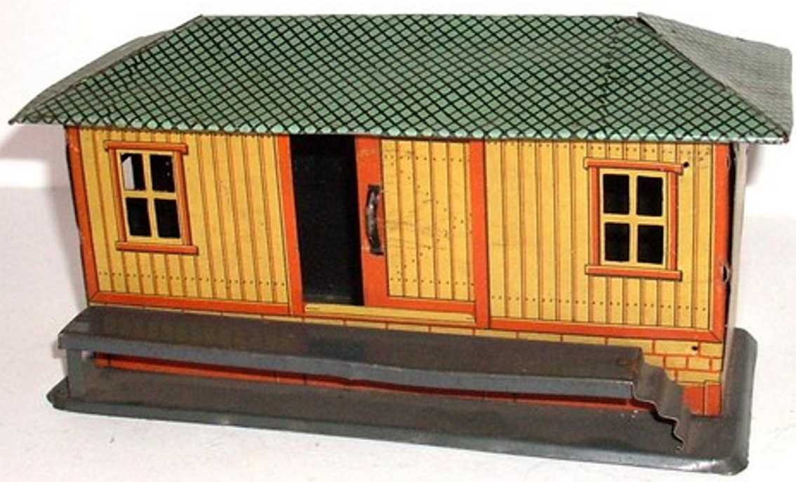 fischer heinrich railway toy freight shed goods shed