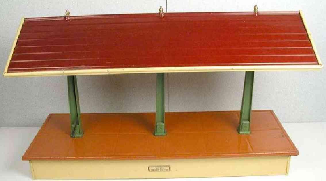 ives 1875 spielzeug eisenbahn gueterschuppen kastanienbraun