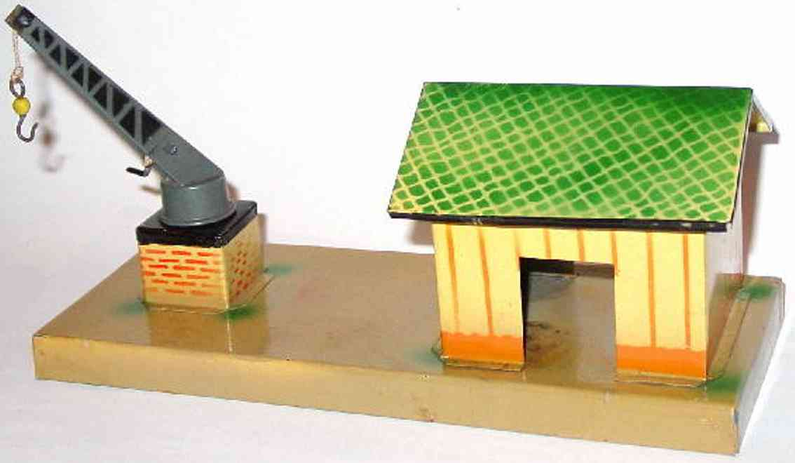 kibri 0/49/83 railway toy shed hall rotating crane house