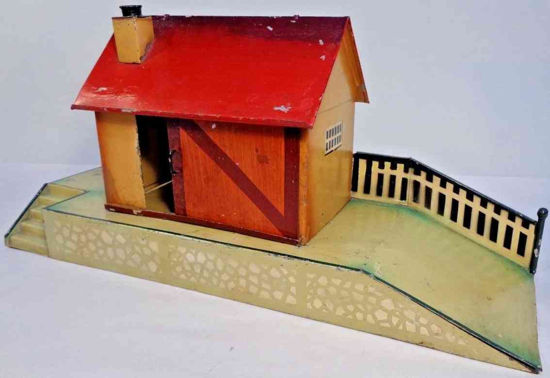 kibri 49/1 railway toy freight shed freight staion half-timbered red saddle roof