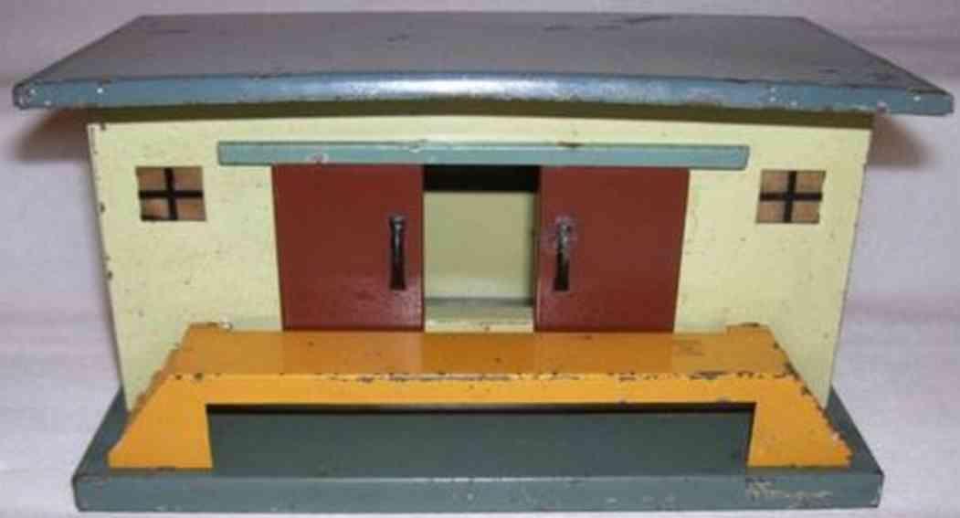 kraus-fandor 2131 spielzeug eisenbahn gueterschuppen mit flachdach rampe 2 treppen spur 0