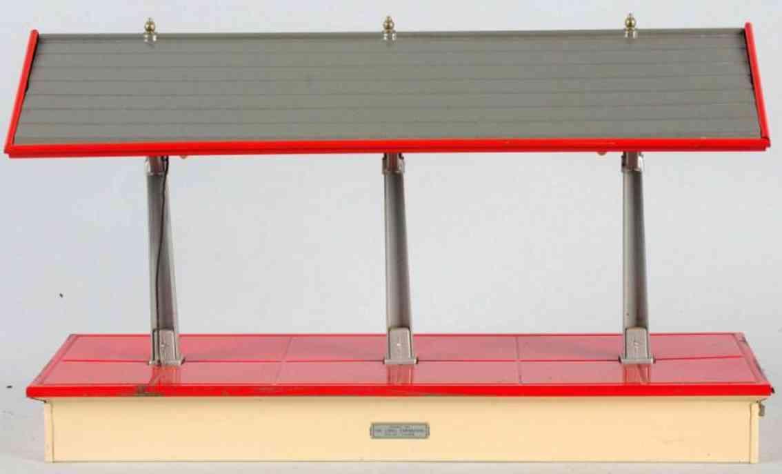 lionel 155 gueterbahnhof weiss rot grau standard gauge