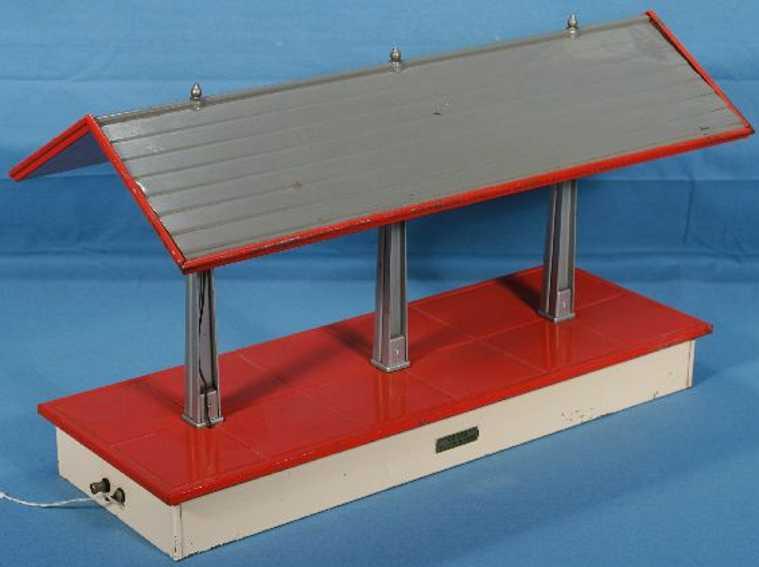 lionel 155/II gueterbahnhof bahnsteig weiss rot grau standard gauge
