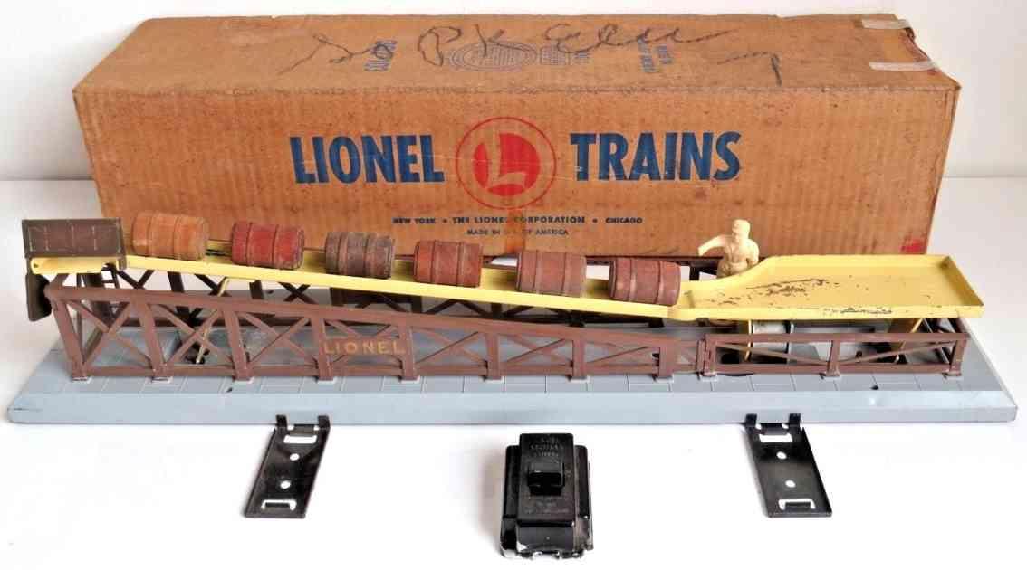 lionel 362 spielzeug eisenbahn gueterschuppen fass-ladestation steuerung