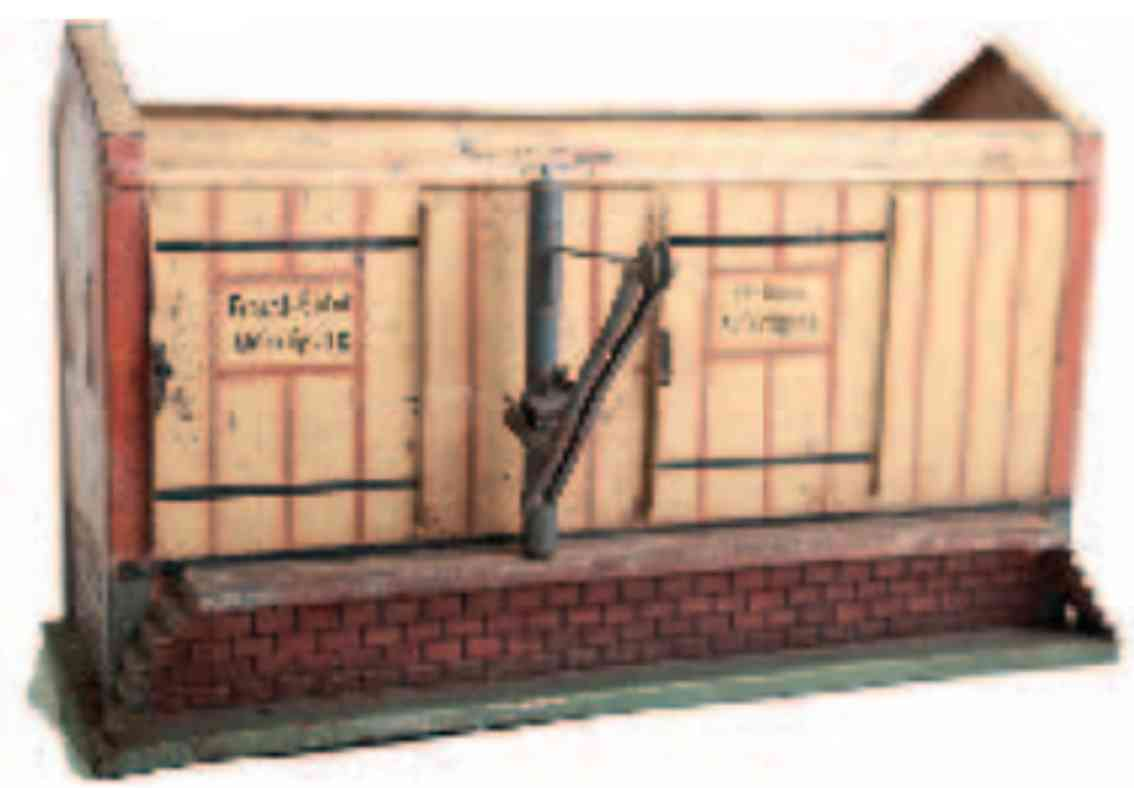 rock & graner 239 railway toy freight shed with crane