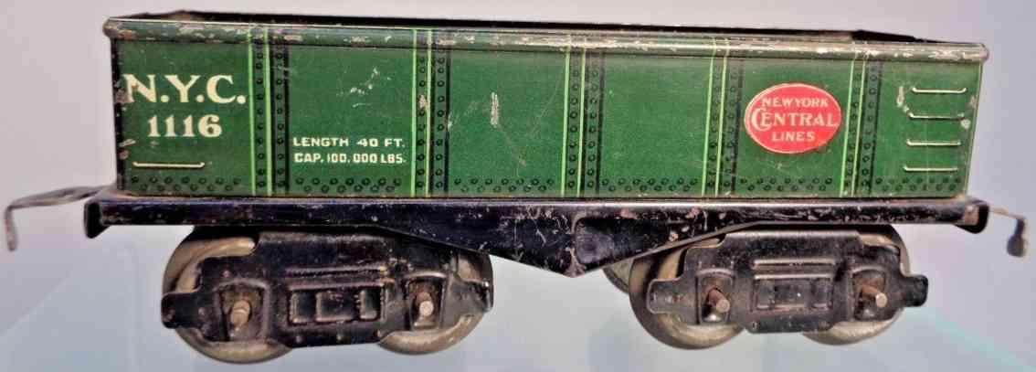 american flyer 1116 nyc spielzeug eisenbahn offener gueterwagen gruen spur 0