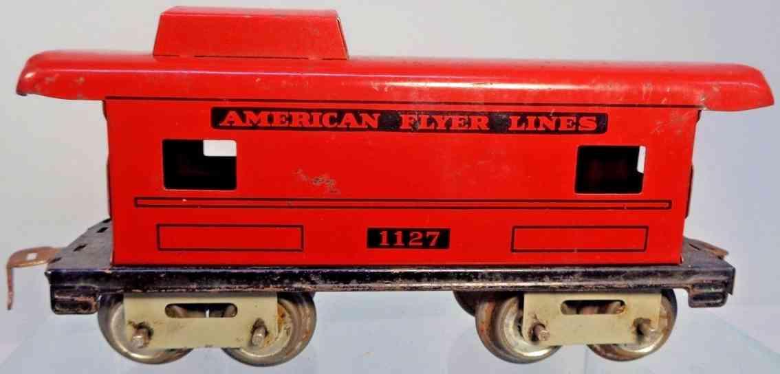 american flyer 1127 spielzeug eisenbahn caboose rot spur 0