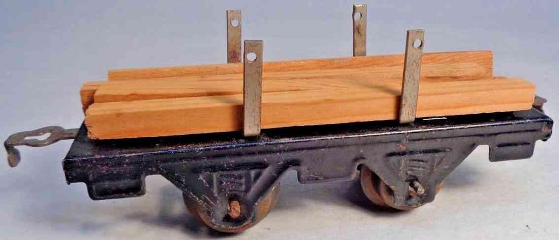 american flyer toy company 1141 railway toy lumber car black gauge 0