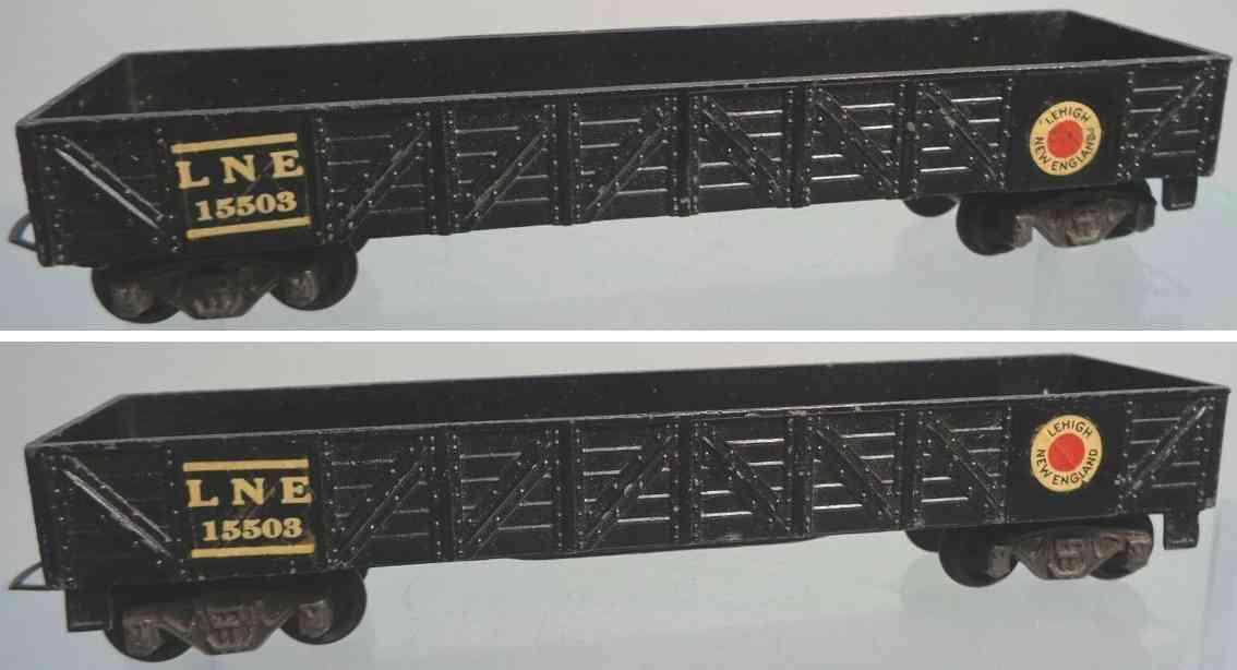 american flyer toy company 117 railway toy gondola car black gauge h0