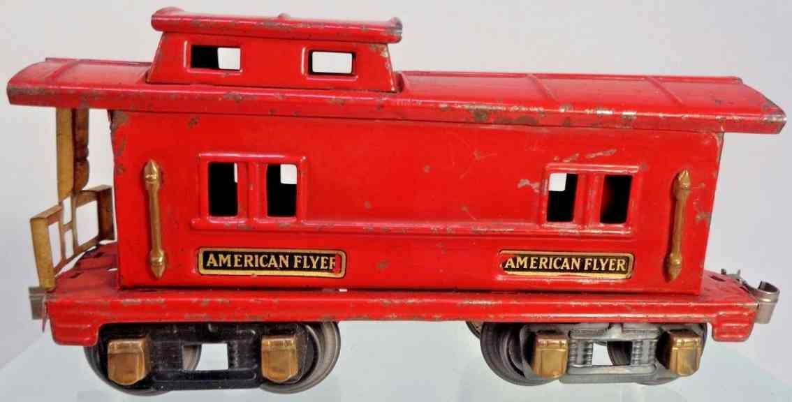 american flyer toy company 232 spielzeug eisenbahn caboose rot messing spur 0