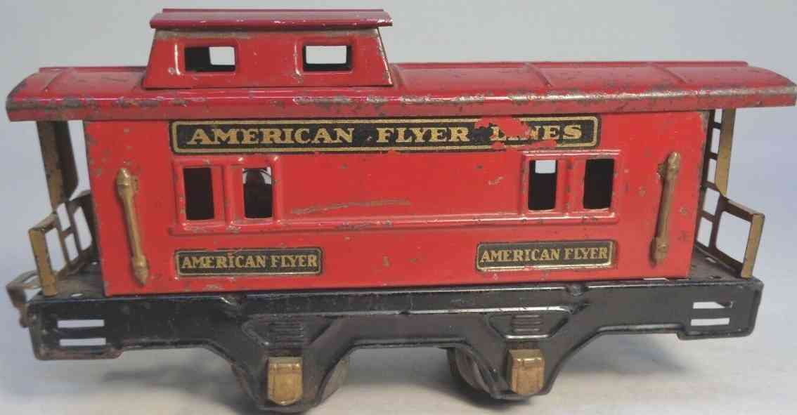 american flyer toy company 3014 railway toy caboose red gauge 0