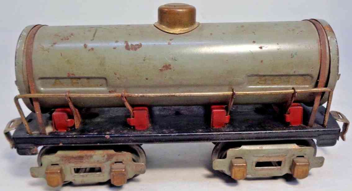 american flyer toy company 3018 railway toy tank car light gray gauge 0