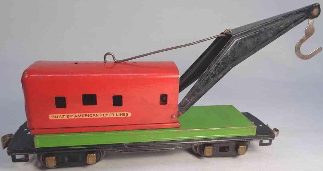 american flyer toy company 3025 railway toy wecker crane ca red green gauge 0