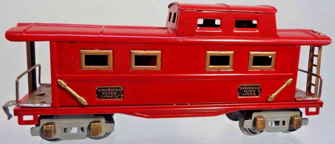 american flyer toy company 3201 railway toy caboose  rot graue Achsblenden spur 0