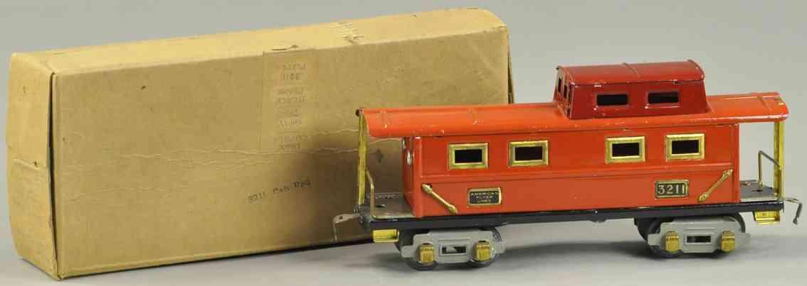 american flyer 3211 spielzeug eisenbahn gueterwagen caboose rot spur 0