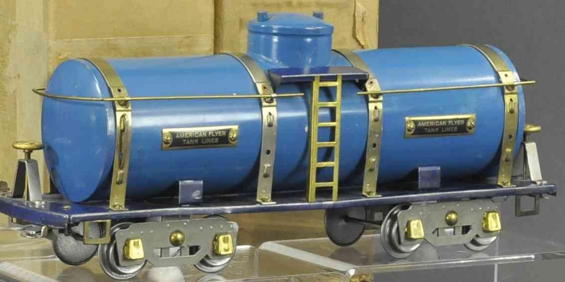 american flyer 4010 eisenbahn tankwagen blau wide gauge
