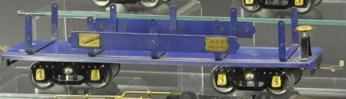 american flyer 4012 eisenbahn maschinenwagen blau wide gauge