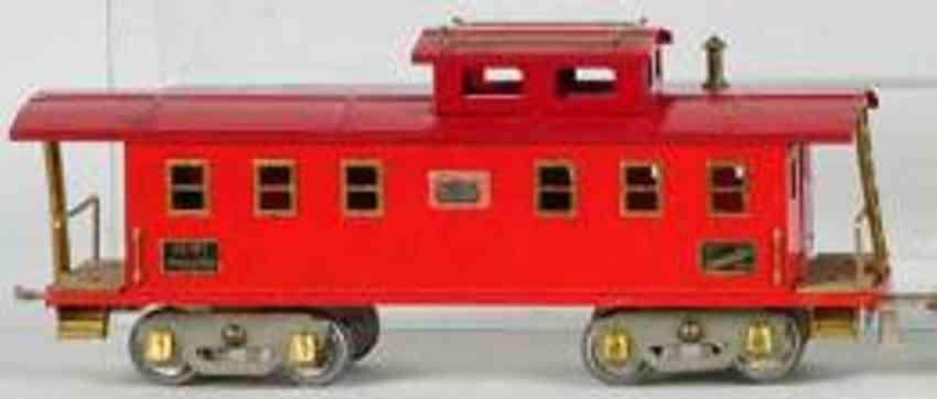 american flyer 4021 spielzeug eisenbahn caboose rot standard gauge