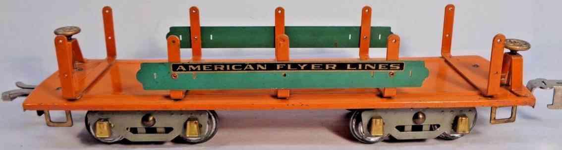 american flyer 4022 railway toy machinery car orange teal wide gauge