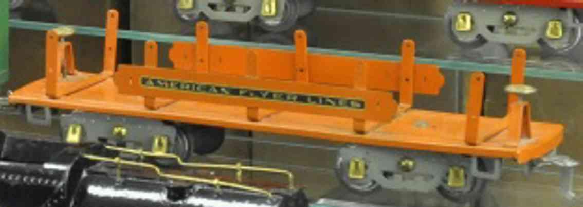 american flyer 4022 eisenbahn maschinenwagen orange wide gauge