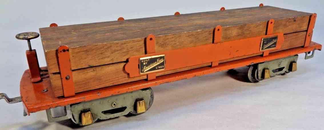 american flyer 4023 spielzeug eisenbahn holzwagen orange standard gauge