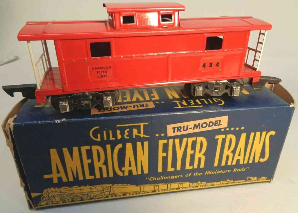 american flyer toy company 484 railway toy caboose red gauge 0