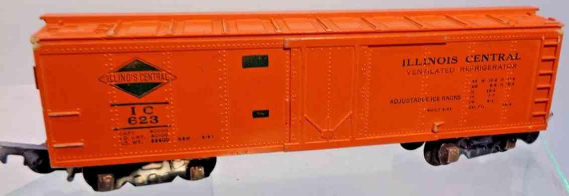 american flyer 623 spielzeug eisenbahn gedeckter gueterwagen plastik orange spur s