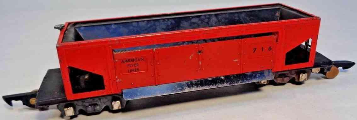 american flyer 716 spielzeug eisenbahn schuettgutwagen rot spur s