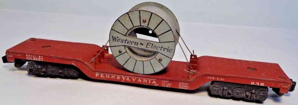 american flyer 936 prr flachwagen western electric cable spur s